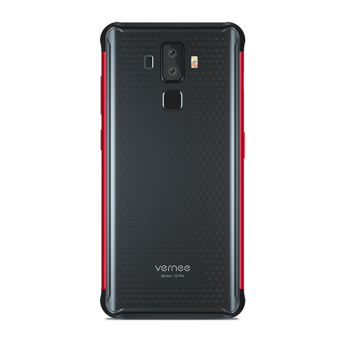 Vernee V2 Pro Android 8.1 Mobile Phone 5.99-Inch MT6763 Octa-Core 6G RAM+64G ROM 6200mAh IP68 Waterproof 4G Smartphone Red