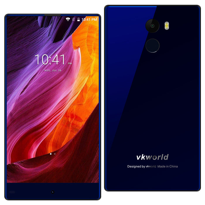 vkworld Mix Plus 5.5 Inches 3+32G Android 7.0 Mobile Phone -Blue