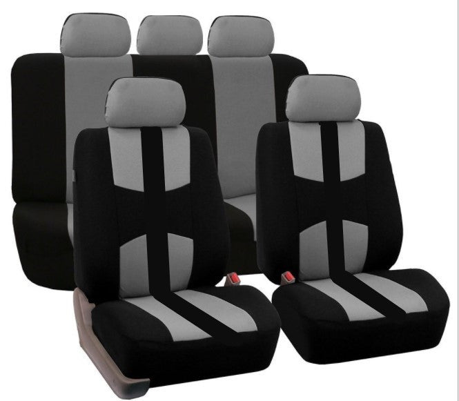 Gray 9Pcs Car Seat Covers