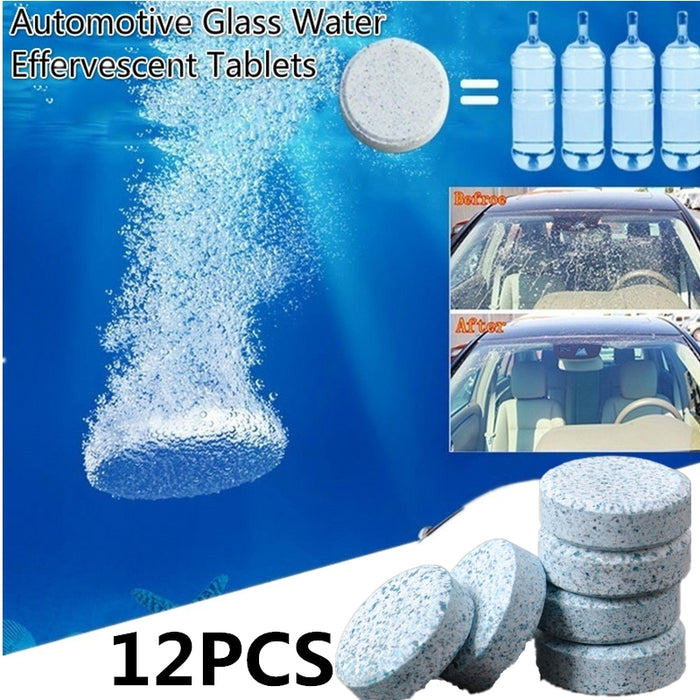 6 Pcs/Set Car Windshield Glass Washer Cleaner Compact Effervescent Tablets Detergent