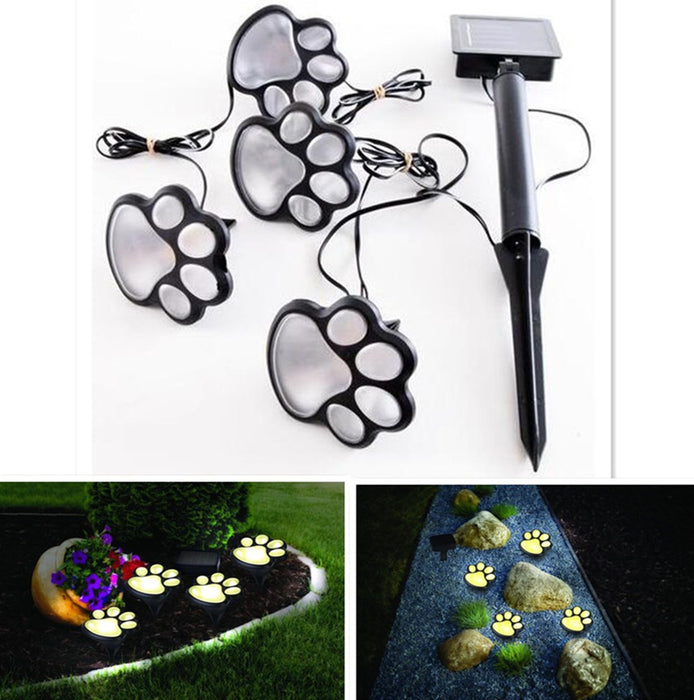 Unique Funny Bear Paw Solar Power LED Lawn Lamp Yard Garden Decoration