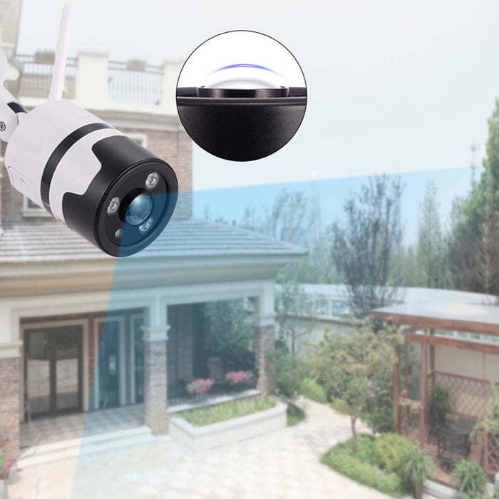 UK Plug WANSCAM HW0034 2MP HD 1080P Outdoor IP66 WiFi IP Camera Two Way Audio Night Vision Camera