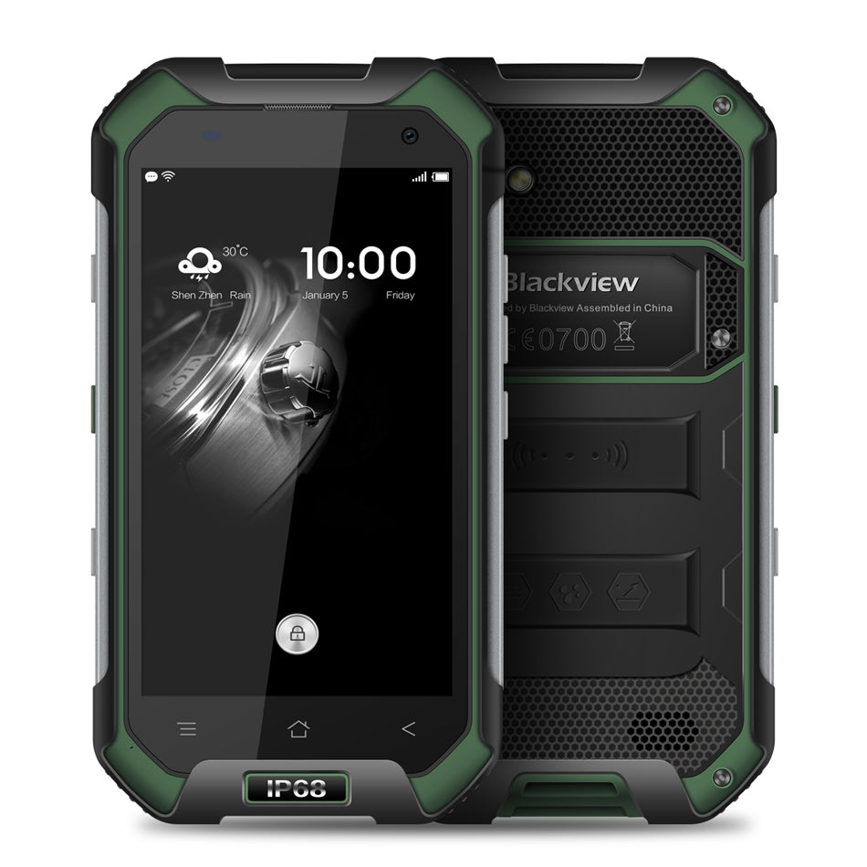 Blackview BV6000S Mobile Phone Android 6.0 MTK6737 Quad Core 4G FDD LTE 2GB RAM+16GB ROM IP68 Waterpproof Smartphone Green