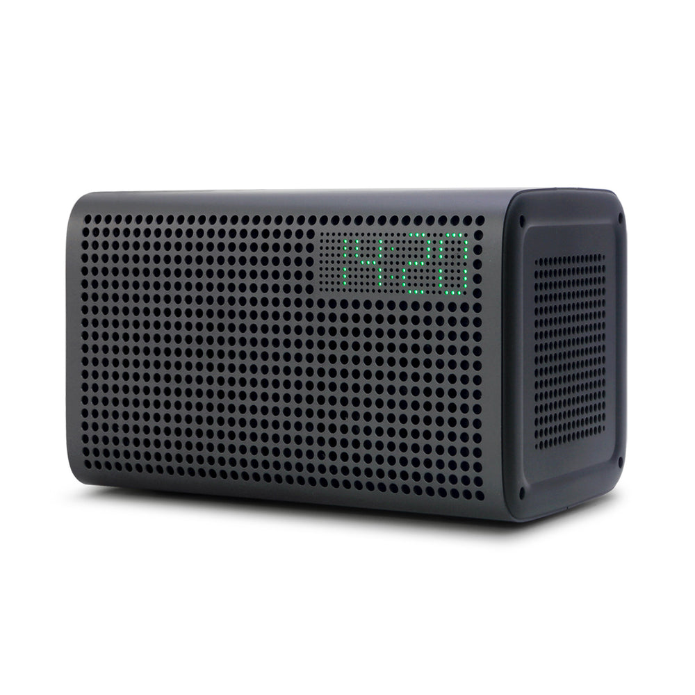 Multi-room Play Wireless Intelligent WiFi Bluetooth 4.0 Voice Control Speaker with Alarm Clock-Grey