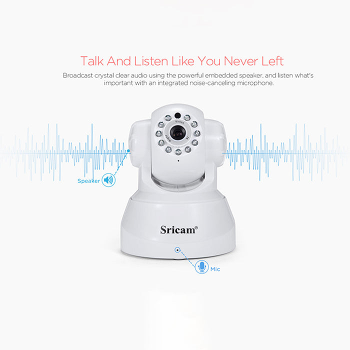 Sricam SP012 Wifi IP Camera Wireless HD P2P CCTV Baby Monitor Camera with IR-cut Two Way Video (U.S. regulations)