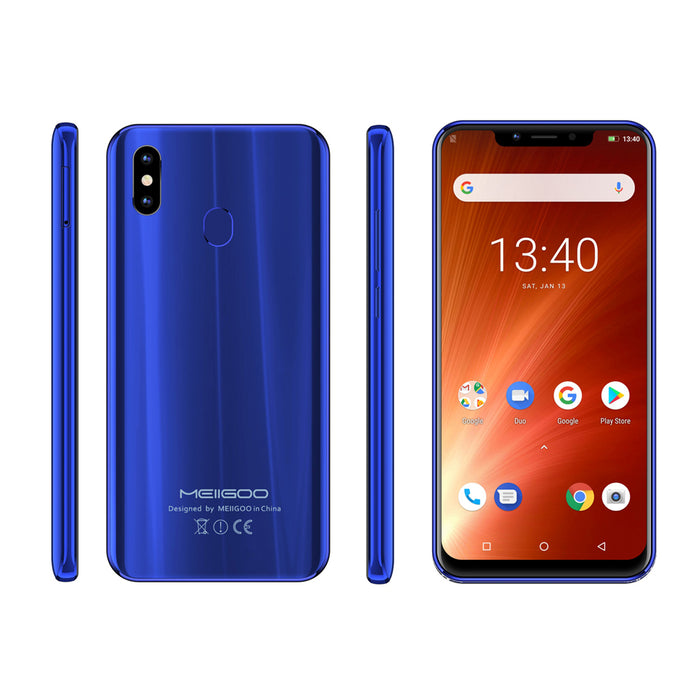 MEIIGOO S9 6.18-Inches FHD+ Android 8.1 4G LTE Fingerprint Smartphone-Blue