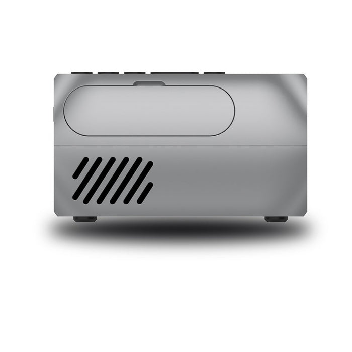 UK Plug Mini Projector Home Theater Cinema TV Portable LED Projector 1080P HDMI/USB/SD/AV Projector Silver Gray