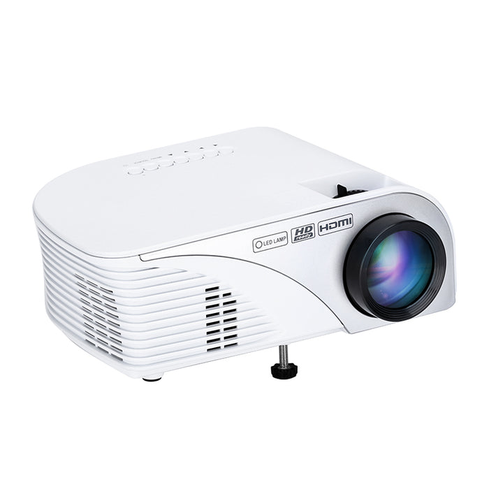 Android 4.4 Mini Projector - 1200 Lumen, 1500:1 Contrast Ratio, Quad-Core CPU, Mali-450GP4 GPU, Google Play, Kodi,  1080P