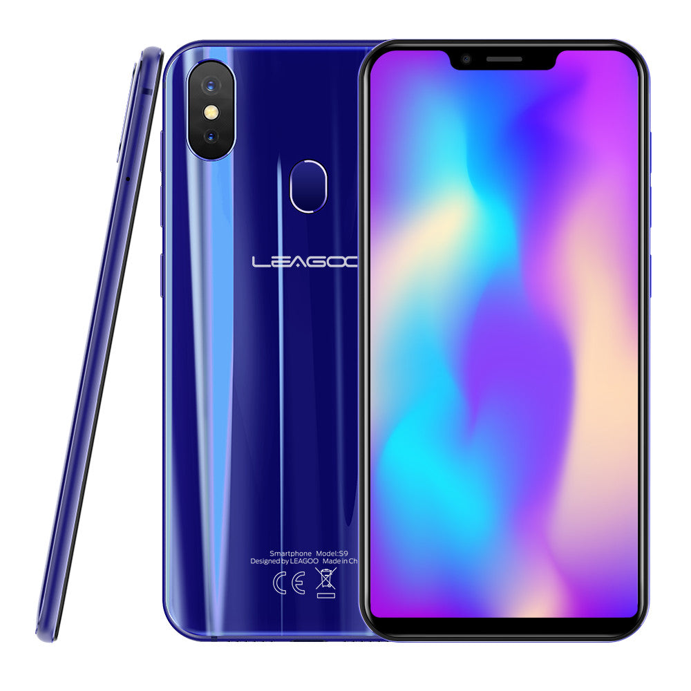 "LEAGOO S9 Mobile Phone 5.85"" 4GB RAM+32GB ROM Android 8.1 13MP Dual Rear Camera  Smartphone Blue"