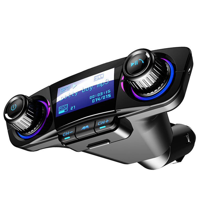 Bluetooth Car Kit FM Transmitter - Bluetooth Handsfree 5V/2.1A Car Kit MP3 Player