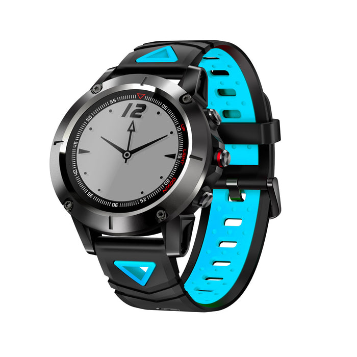 Blue Smart Sports Watch Built-in GPS Fitness Tracker IP68 Waterproof Heart Rate Monitor for Men, Women and Adventurer