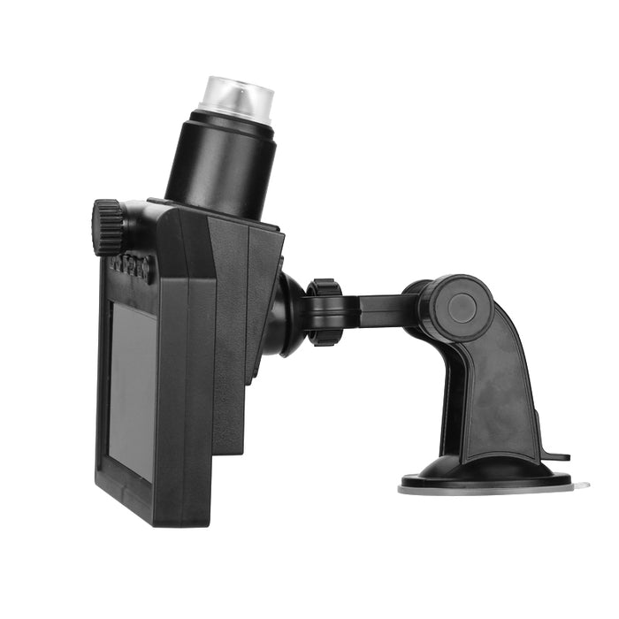 HD Digital Microscope - 600x Zoom, 4.3-Inch HD Display, Built-In Battery, HD Video Recording, Timestamp, Motion Detection