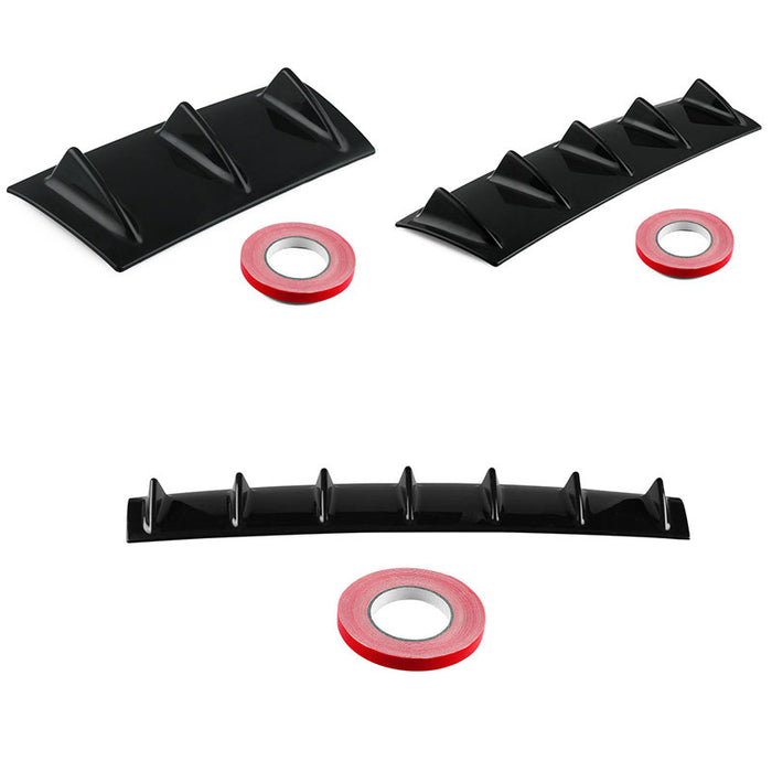 Shark Style Universal Rear Bumper ABS Lip Diffuser Fin Universal Use