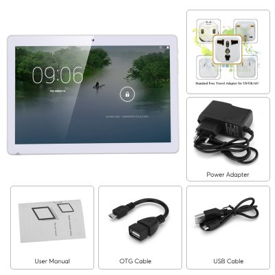 4 G tablets -Android 6.0, dual imei, 4 G support, 4 core CPU, 1GB memory, 10.1 inch hd display, 4000 mAh, WiFi, OTG