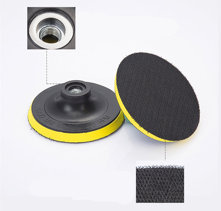 Wax Polishing Buffing Pad Backing Plate for Hooking Looping Grinding Machine&Flocking Sandpaper&Self-adhesive Wool Ball