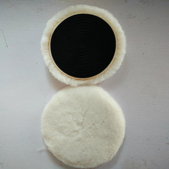 1Pcs Wool Buffing Pad Wax Polishing Buffer Car Polisher Ball Kit with Magic Sticker for Polishing Cream