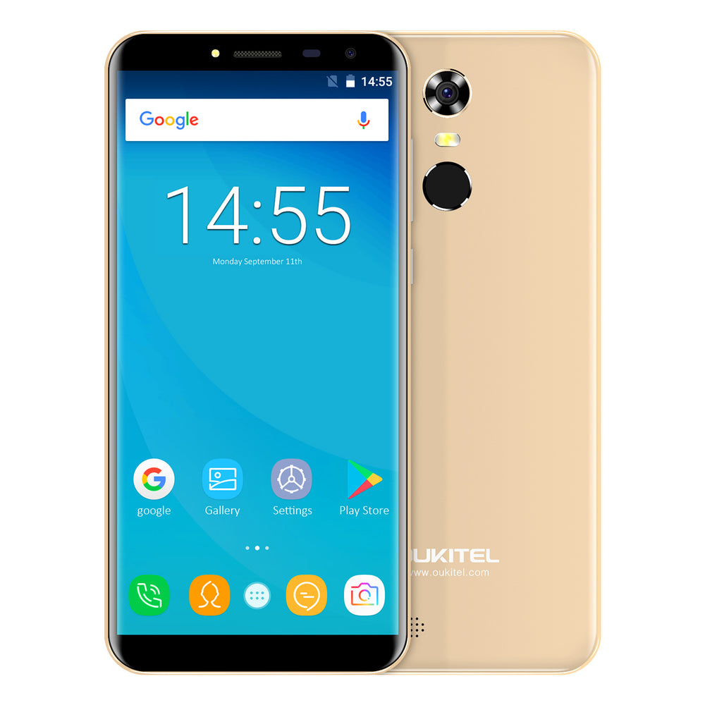 OUKITEL C8 5.5 Inch MT6580A Android 7.0 3G Smart Phone (Gold)