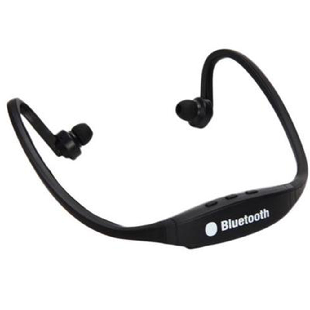 Wireless Bluetooth Headset Stereo Sport Earphone Handfree for iPhone Samsung (Black)