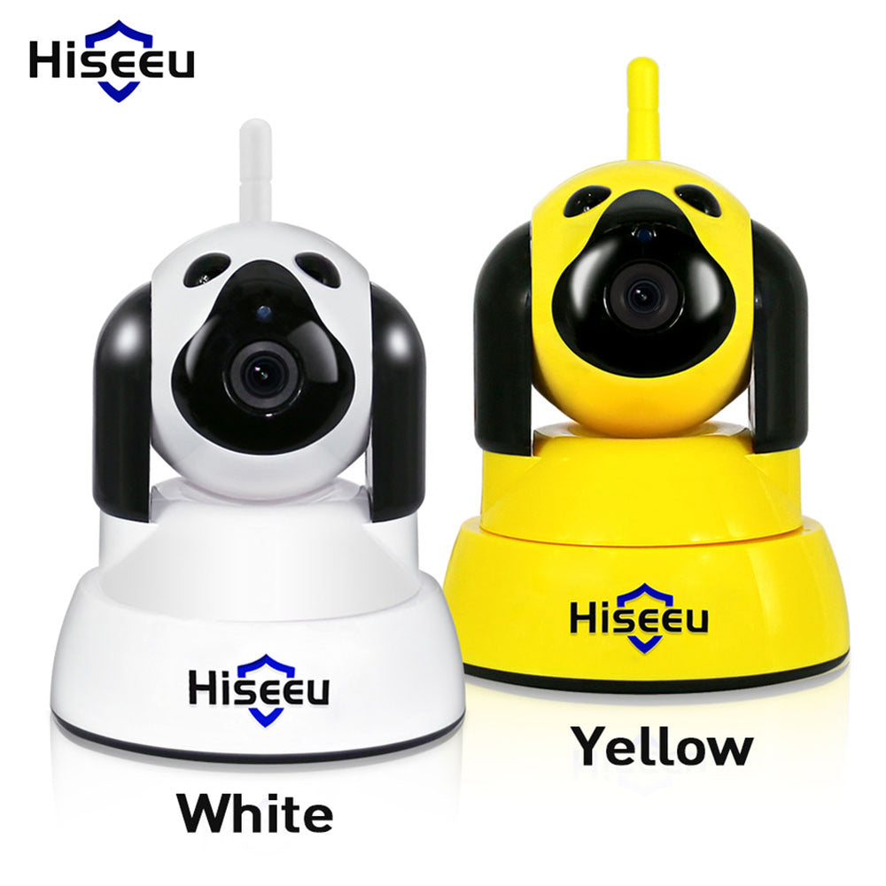 Home Security IP Camera Wi-Fi Wireless Smart Pet Dog Camera 720P Night CCTV Indoor Baby Monitor White (US regulatory)