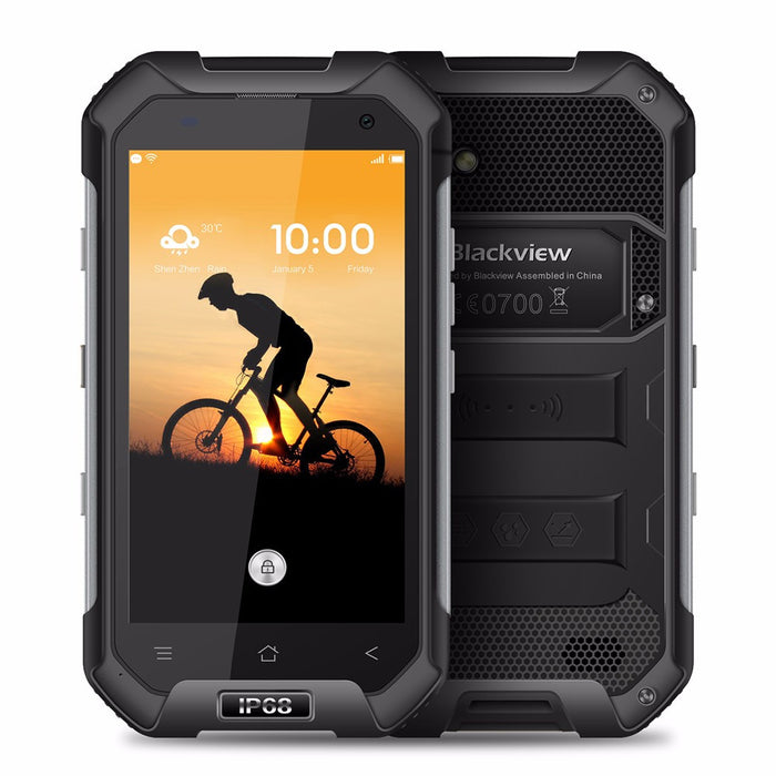 Blackview BV6000 Smartphone IP68 Waterproof MTK6755 Octa-Core 3G RAM+32G ROM Mobile Phone 4.7-Inch Screen Android 6.0 4G Black