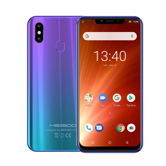 MEIIGOO S9 6.18-Inches FHD+ Android 8.1 4G LTE Fingerprint Smartphone-Gradient Blue