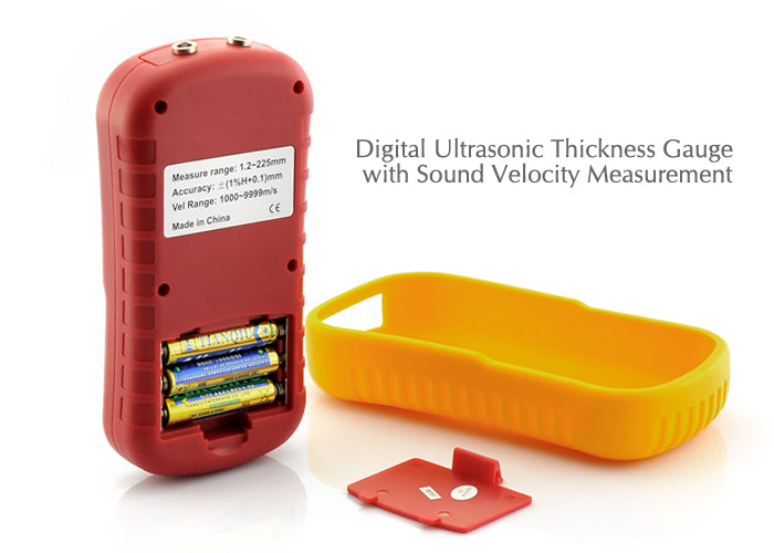 Digital Ultrasonic Thickness Gauge with Sound Velocity Measurement