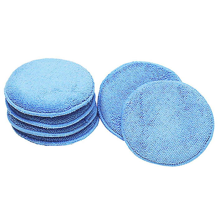 12.5cm Ultra-soft Round Microfiber Wax Applicator Pads for Car Polish, Light Blue
