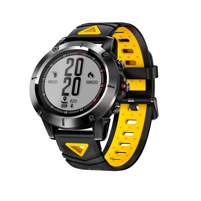 Yellow Smart Sports Watch Built-in GPS Fitness Tracker IP68 Waterproof Heart Rate Monitor for Men, Women and Adventurer