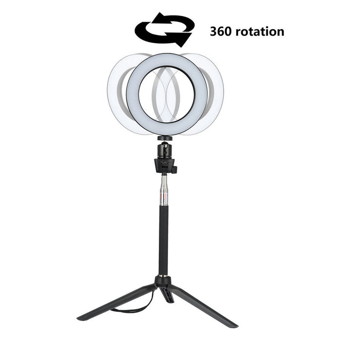 14.5/16/20cm Dimmable LED Ring Light Selfie Light Lamp Photo Camera Live Fill-in Light