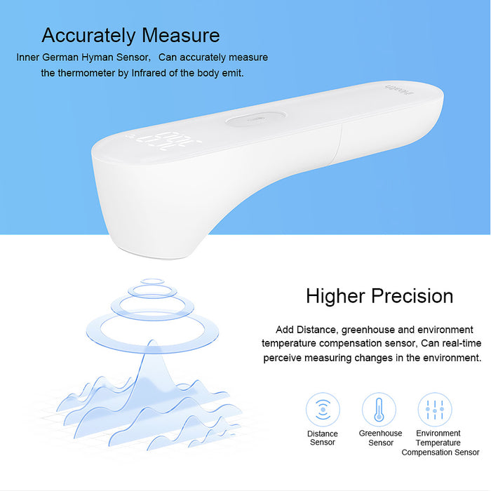 Xiaomi Mijia iHealth Thermometer - Non-Contact, 0.2C Degree Accurate, IR, 3CM Measure Distance, 2x AAA Battery