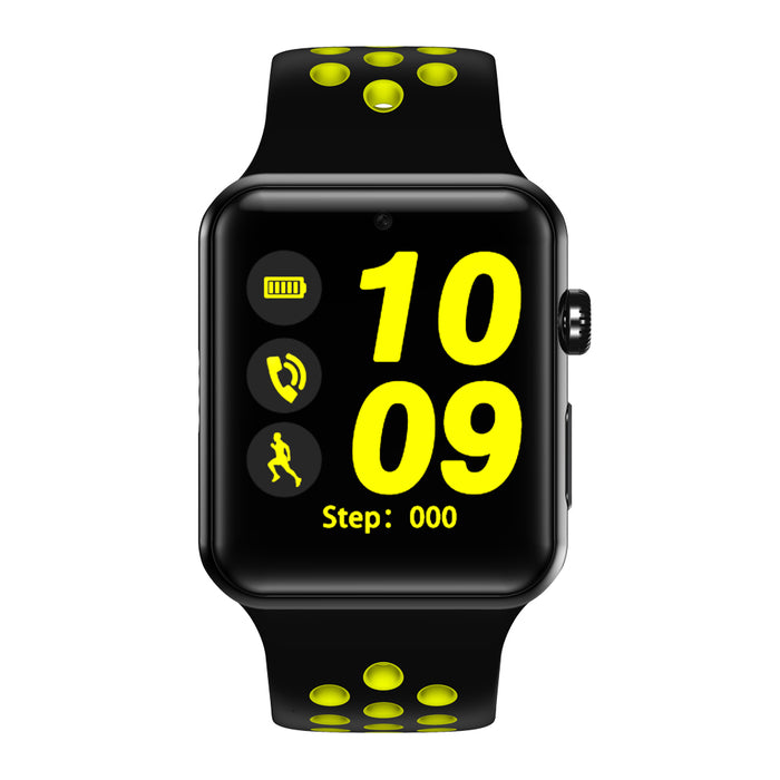 DM09PLUS 1.54 Inch Touch Screen Bluetooth Smart Wristband Sport Fitness Bracelet-Black and yellow