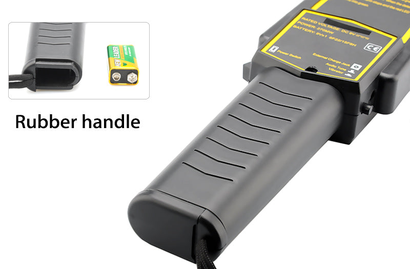 Security Metal Detector - Audio + Vibration Warning, Holster