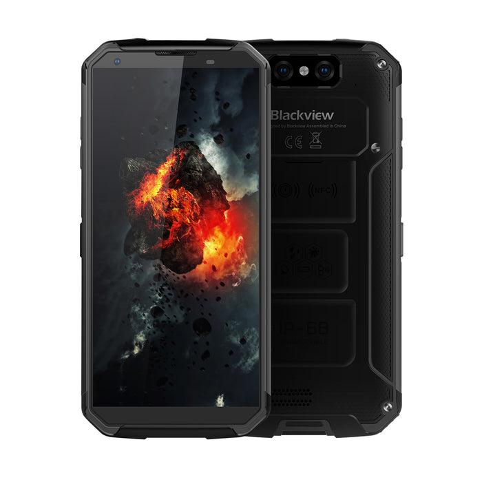 Blackview BV9500 10000mAh IP68 Waterproof 16MP Camera NFC Wireless Charger 5.7-Inch 18:9 4G Global Smartphone Black