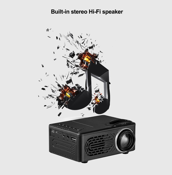 Mini Projector LCD LED Portable Projector-Black AU Plug
