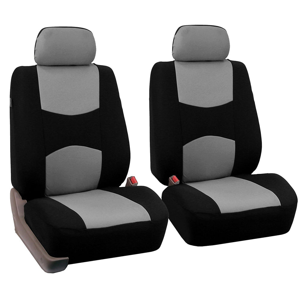 4pcs/set Universal Car Front Seat Cushion Cover + Head Cushion Cover Breathable Cloth Seat Cover Pad Set Gray