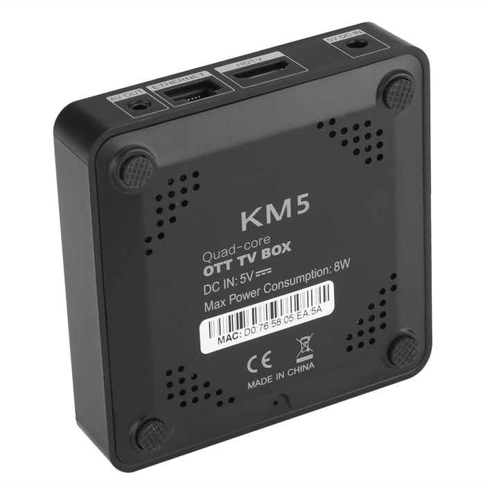KM5 Android TV Box - Android 6.0, 4Kx2K, Amlogic S905X Quad Core CPU, Kodi 17.0, DLNA, Miracast, Airplay