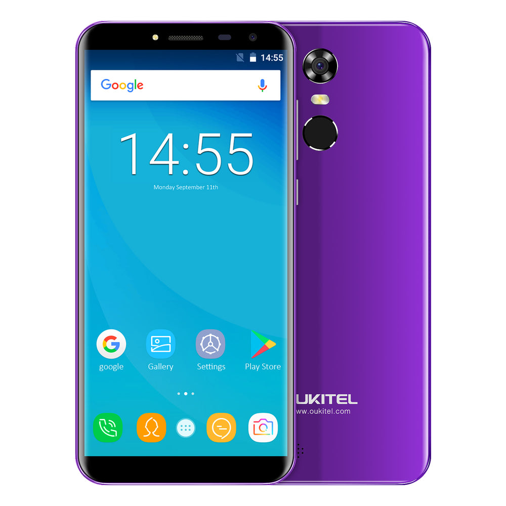 OUKITEL C8 5.5 Inch MT6580A Android 7.0 3G Smart Phone (Purple)