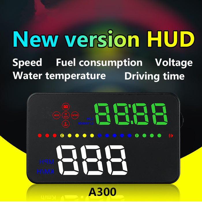 "3.5 ""TFT LCD color screen Kmh and Mph, speed alarm.Braking performance, head up display"