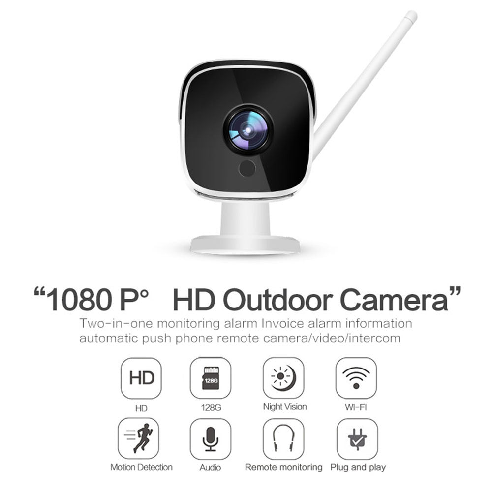 Wifi IP Camera 1080P P2P Indoor Outdoor CCTV Bullet Camera with SD Card Slot Max 128G Motion Detection UK Plug