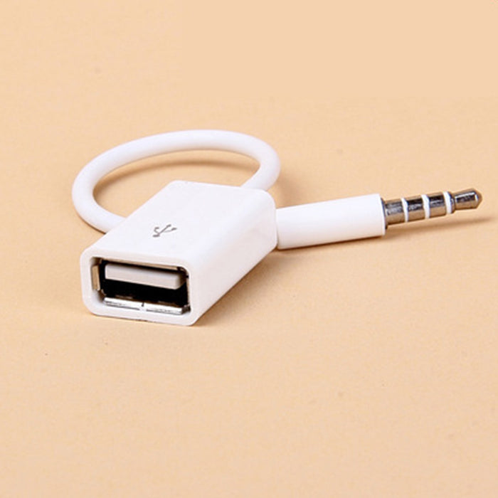 Car SUV MP3 3.5mm Male AUX Audio Plug Jack To USB 2.0 Female Converter Cable