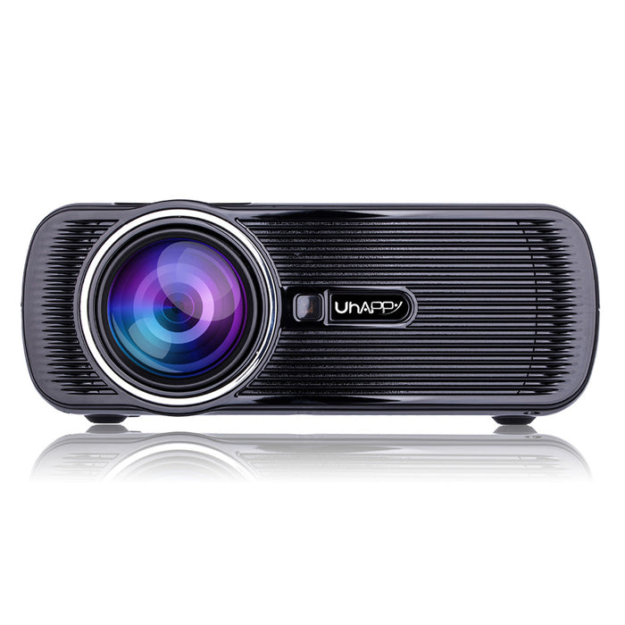 HD Projector 1080P LED Mini Projector 3000 Lumens Portable Home Theater Video Projector (British regulatory)