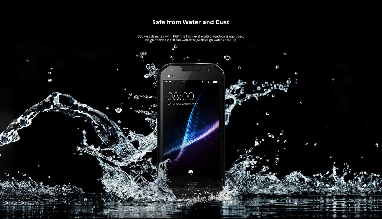 DOOGEE S30 5.0 Inch IP68 Waterproof Smart Phone-Gold