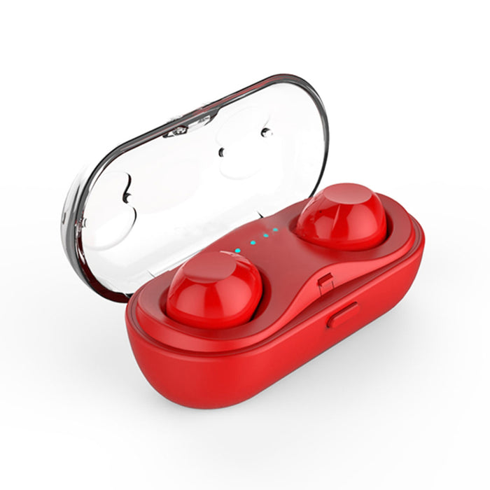 Touch Wireless Bluetooth V4.2+EDR Stereo Music Bluetooth Headset with Charging Box (Red)