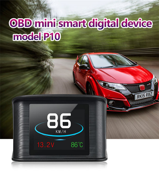 2.2 Inch TFT LCD Color Screen Kmh And Mph, Speed Alarm。Brake performance