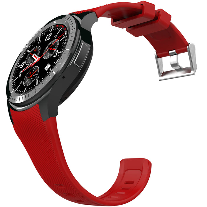 DM368 1.39 Inch Touch Screen Smart Bracelet Heart Rate Monitor Sleep Activity Health Tracker-Red