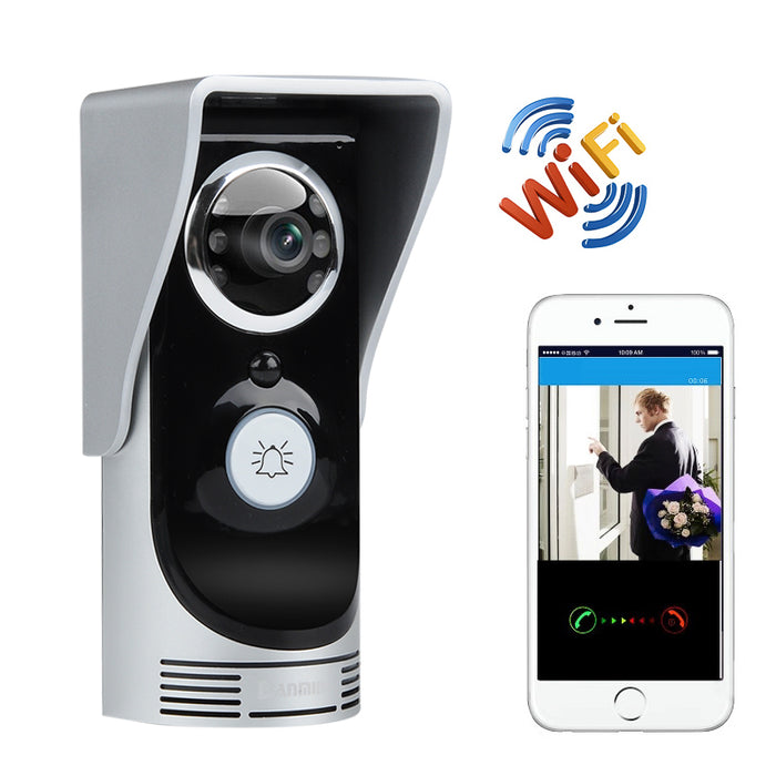 Wi-Fi Video Door Intercom And Door Bell - 1/3 Inch CMOS, APP Support, Motion Detection, Night Vision, Weatherproof