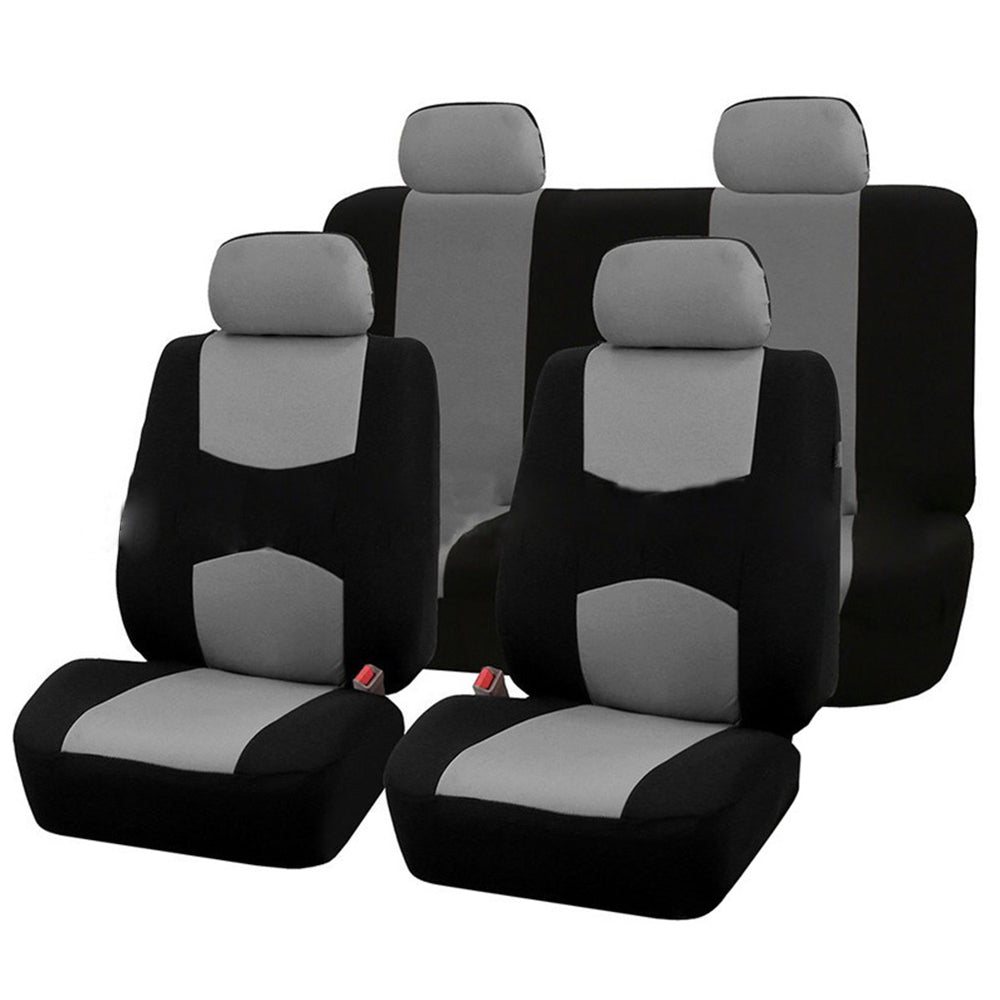 9Pcs Car Seat Covers-Gray