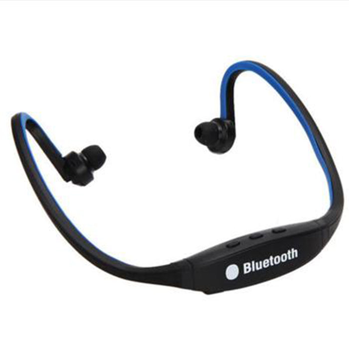 Wireless Bluetooth Headset Stereo Sport Earphone Handfree for iPhone Samsung (Blue)