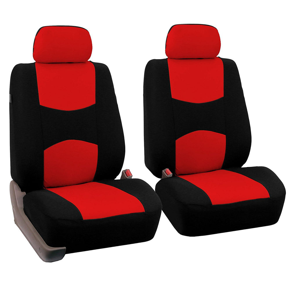 4pcs/set Universal Car Front Seat Cushion Cover + Head Cushion Cover Breathable Cloth Seat Cover Pad Set Red