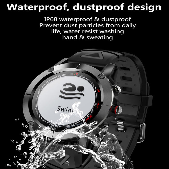 Gray Smart Sports Watch Built-in GPS Fitness Tracker IP68 Waterproof Heart Rate Monitor for Men, Women and Adventurer